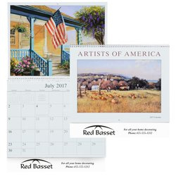 View a larger, more detailed picture of the Artists of America 12-Month Calendar