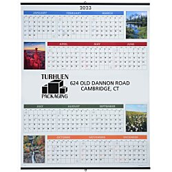 View a larger, more detailed picture of the Scenic Span-A-Year Wall Calendar
