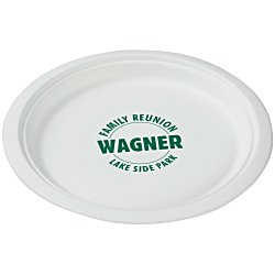 View a larger, more detailed picture of the Compostable Paper Plate - 9 - Low Qty