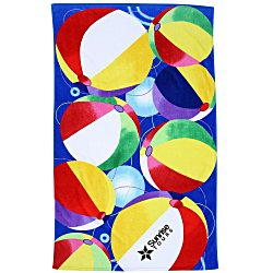View a larger, more detailed picture of the Beach Towel - Beach Balls