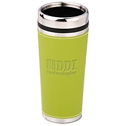 View a larger, more detailed picture of the Leatherette Tumbler - 16 oz - Debossed