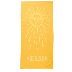 View a larger, more detailed picture of the Tone on Tone Stock Art Towel - Sunburst