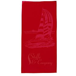View a larger, more detailed picture of the Tone on Tone Stock Art Towel - Sailboat