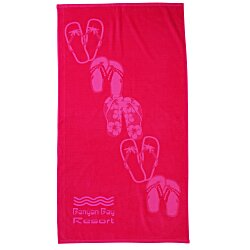 View a larger, more detailed picture of the Tone on Tone Stock Art Towel - Sandals