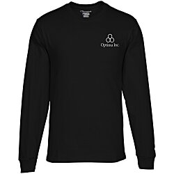View a larger, more detailed picture of the Champion Long-Sleeve Tagless T-Shirt - Colors