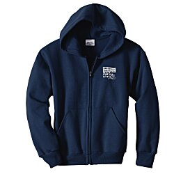 View a larger, more detailed picture of the Hanes ComfortBlend Full-Zip Sweatshirt - Youth - Screen