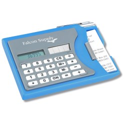 View a larger, more detailed picture of the Calculator w Business Card Holder and Pen