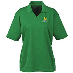 View a larger, more detailed picture of the Moisture Management Polo w Stain Release - Ladies