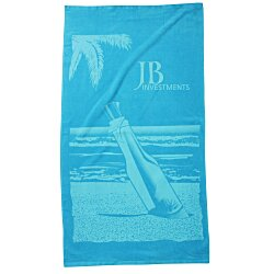 View a larger, more detailed picture of the Tone on Tone Stock Art Towel - Message in a Bottle