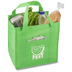 View a larger, more detailed picture of the Insulated Polypropylene Grocery Tote