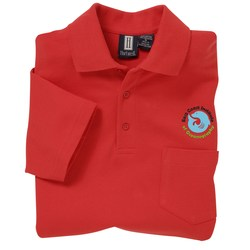 View a larger, more detailed picture of the 60 40 Blend Pocket Pique Sport Shirt - Men s