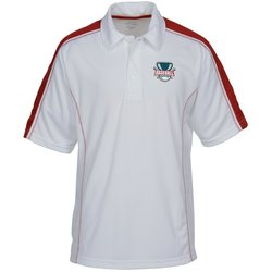 View a larger, more detailed picture of the Performance Pique Colorblock Polo - Men s