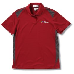 View a larger, more detailed picture of the Recycled Polyester Performance Color Block Polo - Ladies