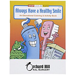 View a larger, more detailed picture of the Always Have a Healthy Smile Coloring Book