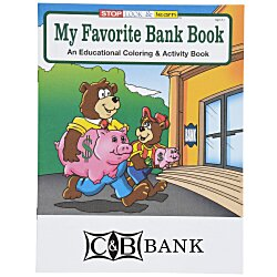 View a larger, more detailed picture of the My Favorite Bank Coloring Book