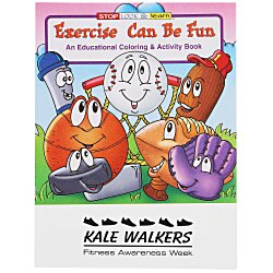 View a larger, more detailed picture of the Exercise Can Be Fun Coloring Book