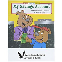 View a larger, more detailed picture of the My Savings Account Coloring Book