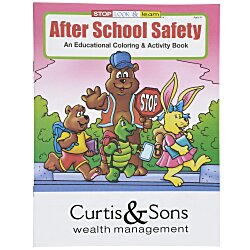 View a larger, more detailed picture of the After School Safety Coloring Book