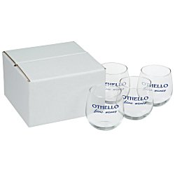 View a larger, more detailed picture of the Stemless Red Wine Glass Set - 16-3 4 oz - Colored Box