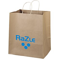 View a larger, more detailed picture of the Kraft Paper Brown Eco Shopping Bag 15-1 2 x 14