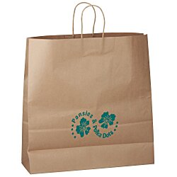 View a larger, more detailed picture of the Kraft Paper Brown Eco Shopping Bag 18-3 4 x 18