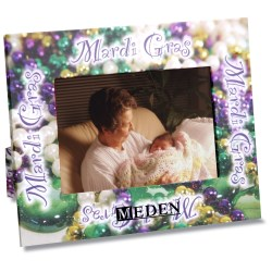 View a larger, more detailed picture of the Paper Photo Frame - Mardi Gras
