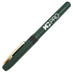View a larger, more detailed picture of the Bic Grip Rollerball Pen - Gold - 24 hr