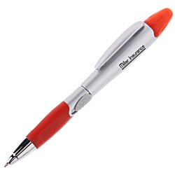 View a larger, more detailed picture of the Blossom Pen Highlighter - Silver