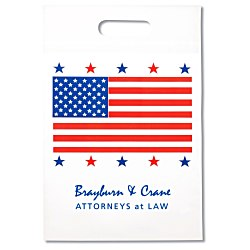 View a larger, more detailed picture of the Flag Die Cut Bag