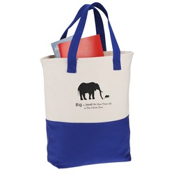 View a larger, more detailed picture of the Cotton Canvas Two-Tone Tote