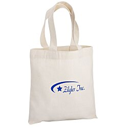 View a larger, more detailed picture of the Cotton Sheeting Natural Economy Tote - 9-1 2 x 9