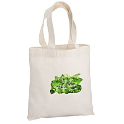 View a larger, more detailed picture of the Cotton Sheeting Natural Economy Tote - 9-1 2 x 9 - Full Color