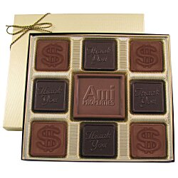 View a larger, more detailed picture of the Centerpiece Chocolates - 6 oz - Thank You & Dollar Sign