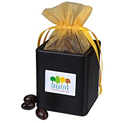 View a larger, more detailed picture of the Desk Caddy - Leatherette - Dark Chocolate Almonds