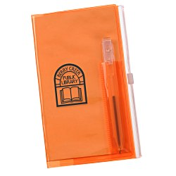 View a larger, more detailed picture of the Planner w Zip-Close Pocket - Monthly - Translucent