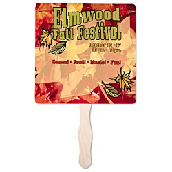 View a larger, more detailed picture of the Hand Fan - 8 Square - Full Color