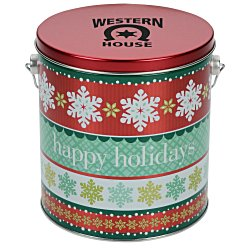View a larger, more detailed picture of the 3-Way Popcorn Tin - Design - 1 Gallon