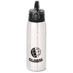 View a larger, more detailed picture of the Stainless Steel Sport Bottle - 24 oz