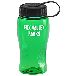 View a larger, more detailed picture of the Poly-Pure Lite Bottle with Tethered Lid - 18 oz