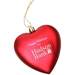 View a larger, more detailed picture of the Heart Shatterproof Ornament - 4