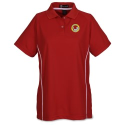 View a larger, more detailed picture of the Moisture Management Polo with Piping - Ladies