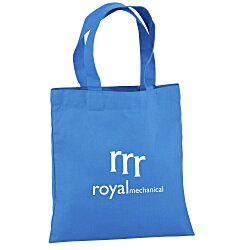 View a larger, more detailed picture of the Cotton Sheeting Colored Economy Tote - 9-1 2 x 9