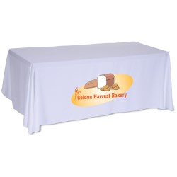 View a larger, more detailed picture of the Open-Back Table Throw - 6 - Front Panel - Full Color