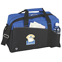 View a larger, more detailed picture of the Two-Tone Duffel Bag - Full Color