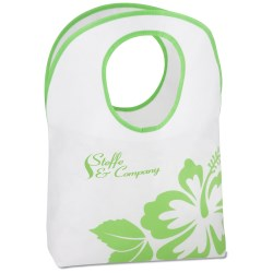View a larger, more detailed picture of the Polypropylene Hobo Tote - Flower
