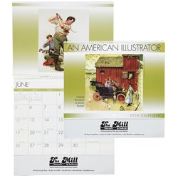 View a larger, more detailed picture of the An American Illustrator 2016 Calendar - Spiral - Closeout
