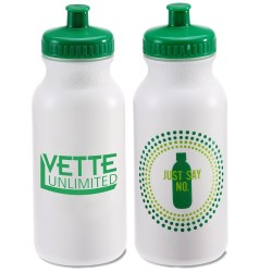 View a larger, more detailed picture of the Sport Bottle with Push Pull Lid - 20 oz - Just Say No