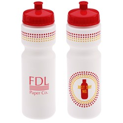 View a larger, more detailed picture of the Sport Bottle with Push Pull Lid - 28 oz - Just Say No