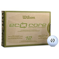 View a larger, more detailed picture of the Wilson Eco Core Golf Ball - Dozen - Standard Ship