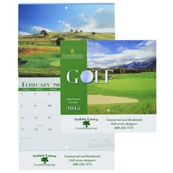 View a larger, more detailed picture of the Golf Landscapes 2015 Calendar - Stapled - Closeout